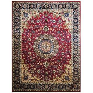 Handmade One-of-a-Kind Mashad Wool Rug (Iran) - 9'9 x 13'
