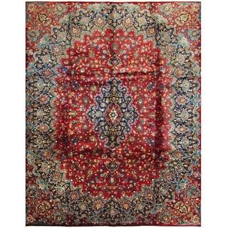 Handmade One-of-a-Kind Mashad Wool Rug (Iran) - 10' x 12'8