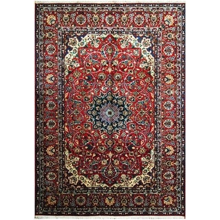 Handmade One-of-a-Kind Isfahan Wool Rug (Iran) - 9'4 x 13'4
