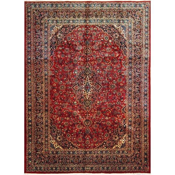 Handmade One-of-a-Kind Mashad Wool Rug (Iran) - 9'6 x 12'9