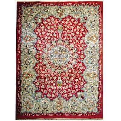 Handmade One-of-a-Kind Isfahan Wool Rug (Iran) - 10'5 x 13'9
