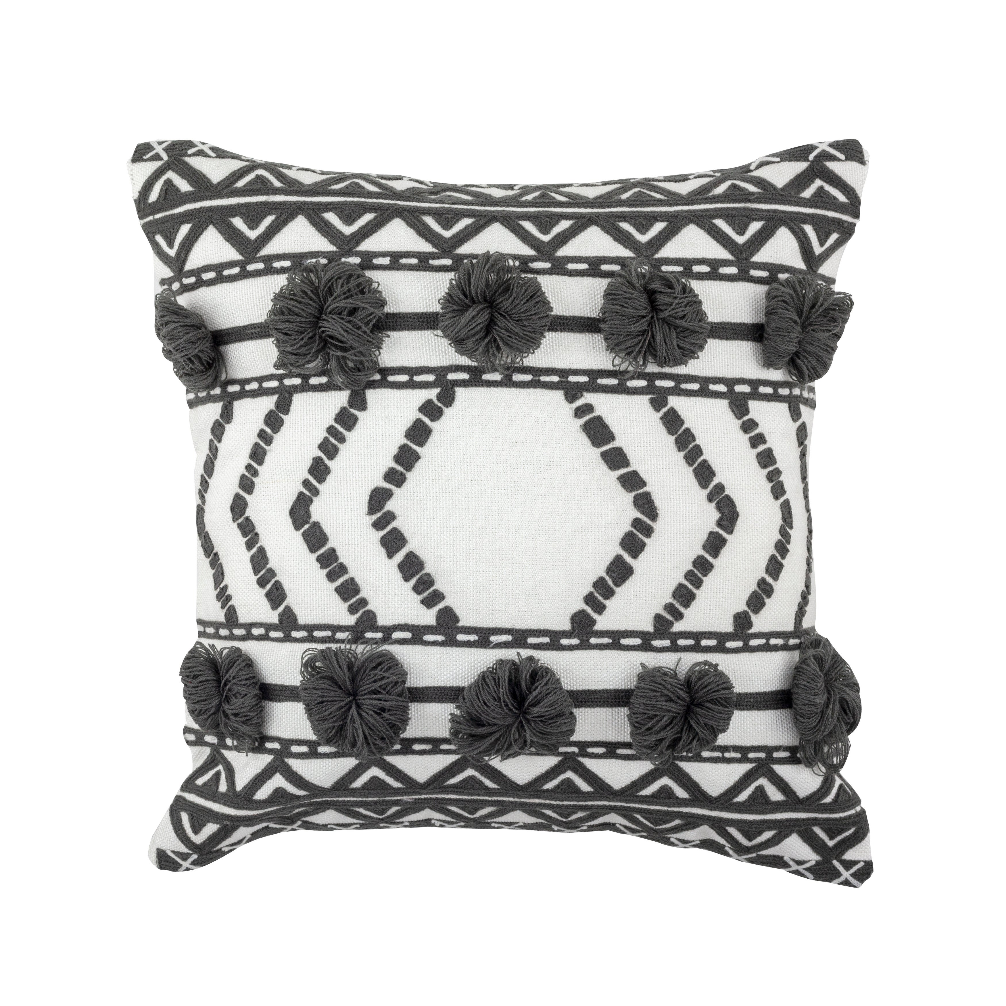 Embroidered Thelma Outdoor Pillow