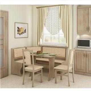 The Gray Barn Golden Horse Breakfast Nook 4-piece Corner Dining Set