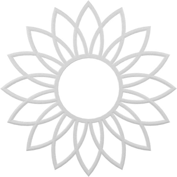 Daisy Architectural Grade PVC Pierced Ceiling Medallion