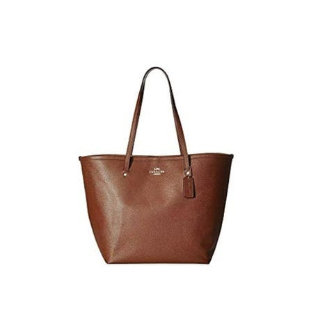 COACH Crossgrain Large Street Tote Saddle