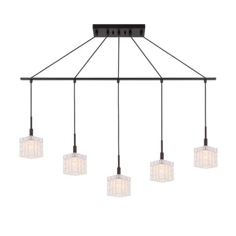 Woodbridge 18629BRZLE-C80415 Candice 5L Linear Pendant w/LED - 5-light