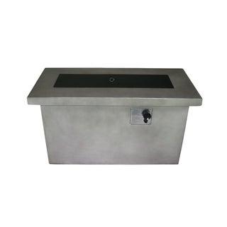 Arabba Grey Cement Rectangular Gas Fire Pit Table