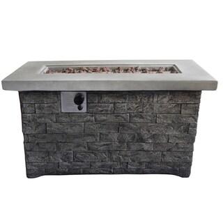 Felix Gray Brick Rectangular Gas Fire Pit Table
