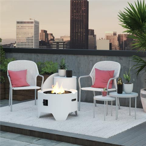 CosmoLiving by Cosmopolitan Neesa Patio Set with Nesting Tables (4-piece)