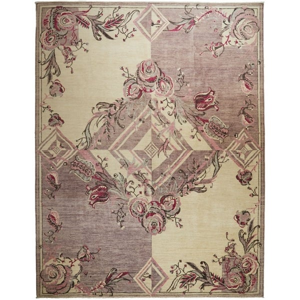 "Eclectic, Hand Knotted Area Rug - 9' 0"" x 11' 9"" - 9' x 12'"