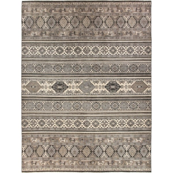 """African, Hand Knotted Area Rug - 9' 0"""" x 11' 10"""" - 9' x 12'"""