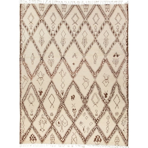 Bohemian Moroccan One-of-a-Kind Hand-Knotted Area Rug - 8 x 10