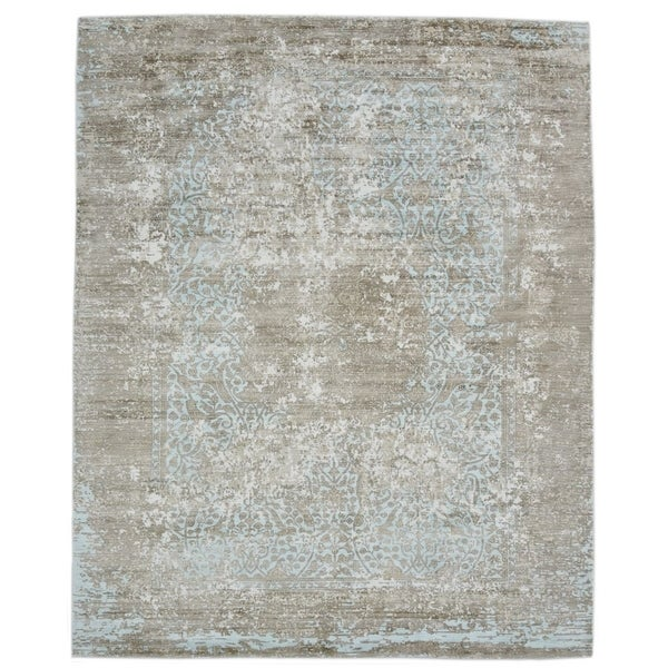 Contemporary Modern One-of-a-Kind Hand Loomed Area Rug - 9 x 12