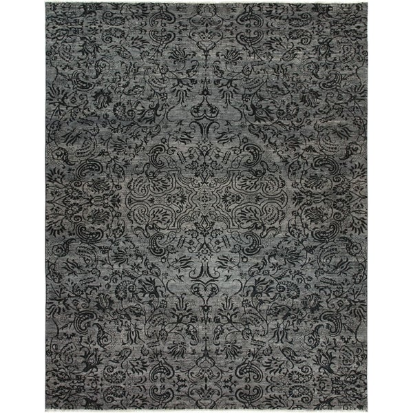 """Suzani, Hand Knotted Area Rug - 9' 1"""" x 11' 6"""" - 9' x 12'"""