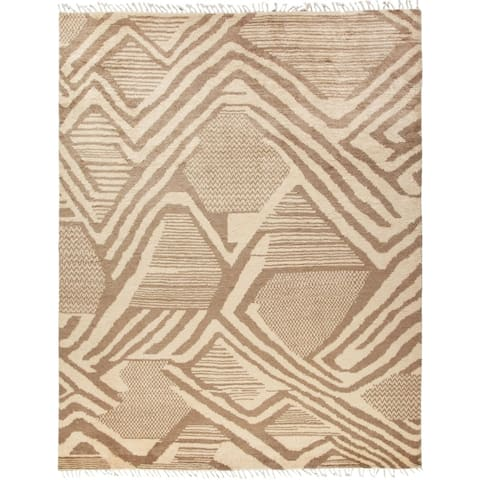 """Moroccan, Hand Knotted Area Rug - 8' 1"""" x 10' 4"""" - 8' x 10'"""