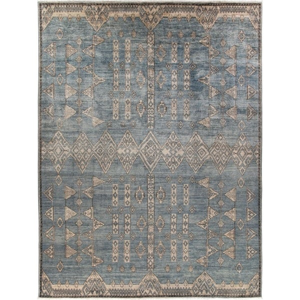 """African, Hand Knotted Area Rug - 8' 10"""" x 11' 8"""" - 9' x 12'"""