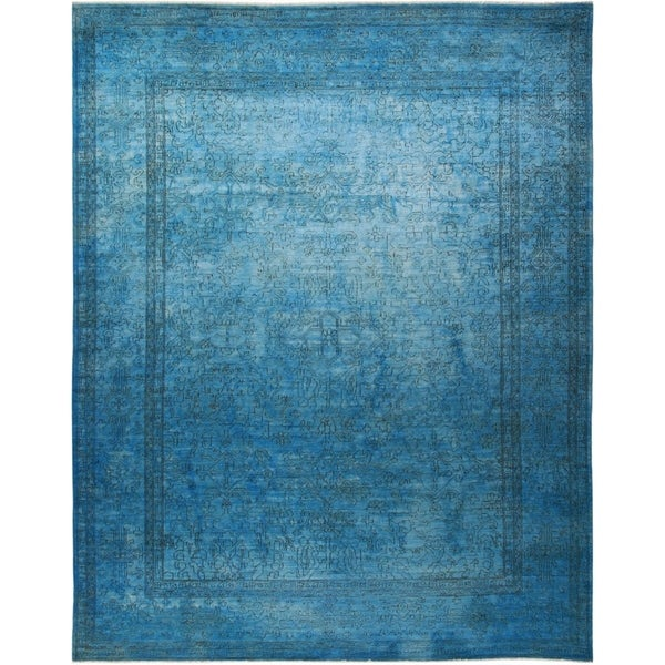 """Vibrance, Hand Knotted Area Rug - 9' 3"""" x 11' 7"""" - 9' x 12'"""