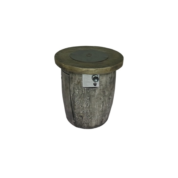 Rockford Wood Look Round Gas Fire Pit Table