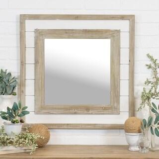 Distressed shiplap mirror