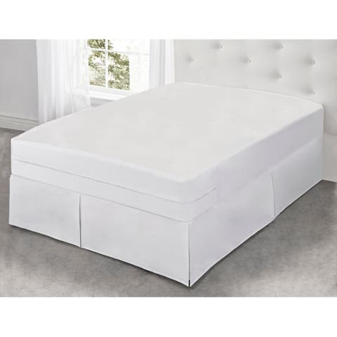 Fresh Ideas All-In-One Cool Bamboo Mattress Protector with Bed Bug Blocker, Twin