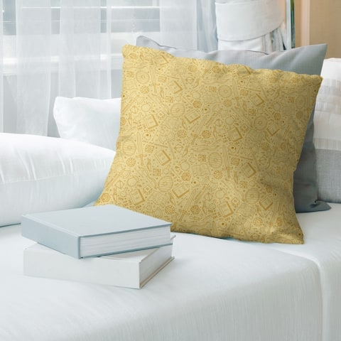 Yellow Feature Full Color RPG Pattern Throw Pillow