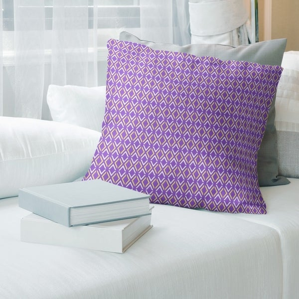 Two Color Arrow Diamonds Throw Pillow