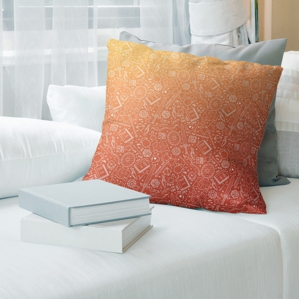 Ombre RPG Pattern Throw Pillow