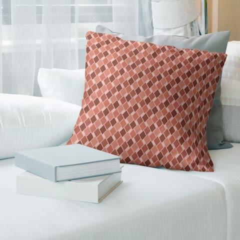 Monochrome Retro Diamonds Throw Pillow