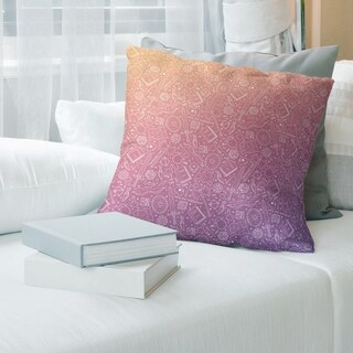 Purple Ombre RPG Pattern Throw Pillow