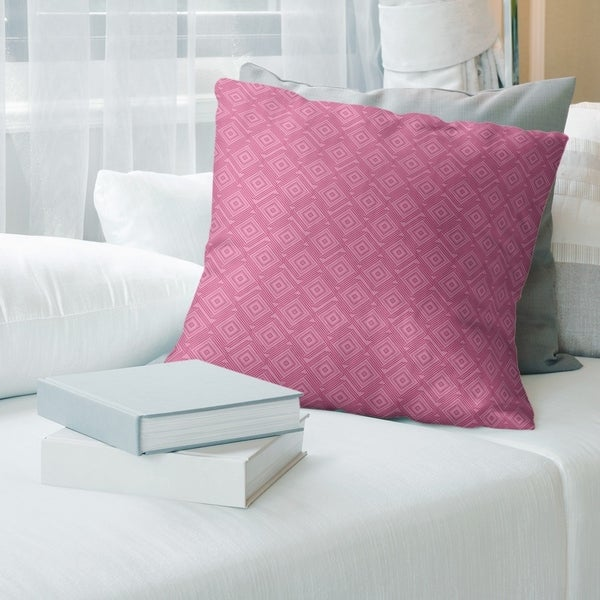 Square Maze Throw Pillow