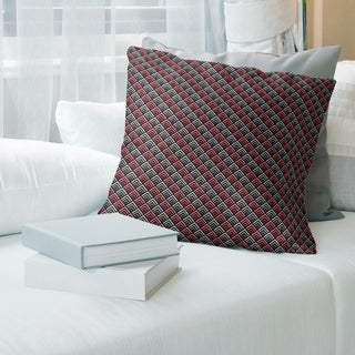 Geometric Ombre Stripe Pattern with Gray Throw Pillow