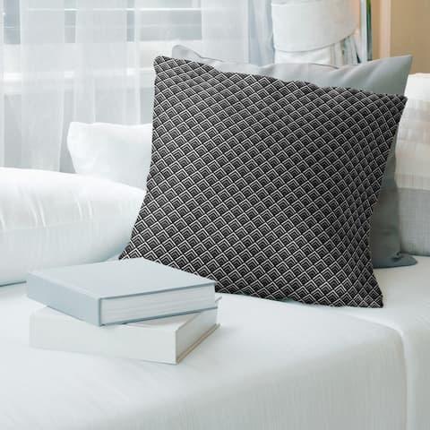 Reverse Geometric Ombre Pattern Throw Pillow