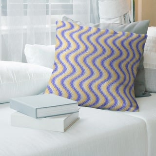 ArtVerseWavy Stripes Throw Pillow (18 x