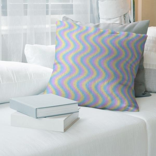 Wavy Stripes Throw Pillow