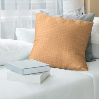 Orange Feature Two Color Doily Pattern Throw Pillow