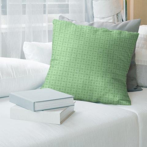 Cool Monochrome Doily Pattern Throw Pillow
