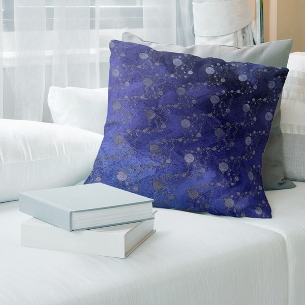 Ombre Multicolor Planets & Stars Throw Pillow