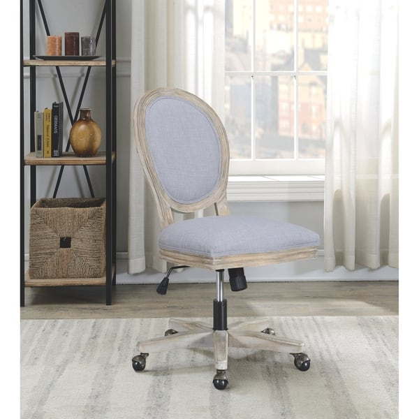 Shop Rustic Wood Modern Design Adjustable Swivel Home Office Desk Chair On Sale Overstock 28363188