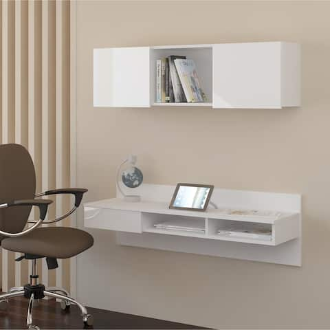 Porch & Den Kemmer Wall-mounted Floating Home Office
