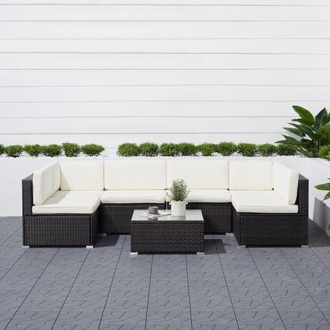 Crandon 6-piece Classic Outdoor Wicker Sectional Sofa