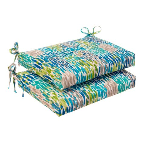 Glasgow April Showers Oversized Seat Square Cushion (Set of 2) by Havenside Home