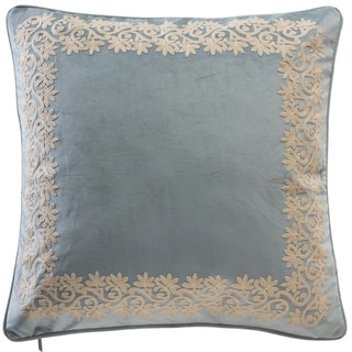 Chamber Embroidery Border Euro Pillow Cover
