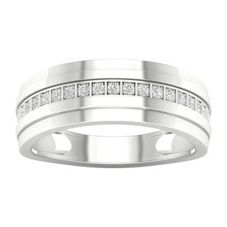 IGI Certified 1/20ct TDW Diamond Men's Wedding Band in 10k Gold by De Couer