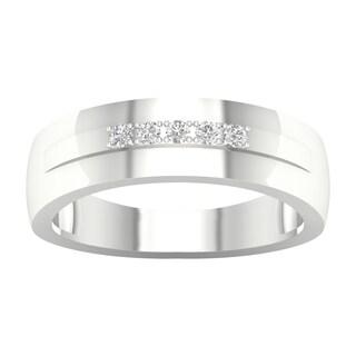 IGI Certified 1 20ct TDW Diamond Men S Wedding Band In 10k Gold By De Couer