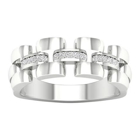 IGI Certified 1/6ct TDW Diamond Men's Wedding Band in 10k Gold by De Couer