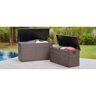Wicker Storage Box Alu 66.9*30.3*37.4 Inch Assembly Required - Black