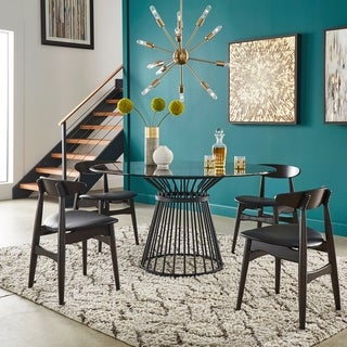 Sheeba Round Caged Metal Base 5-piece Dining Set by iNSPIRE Q Modern