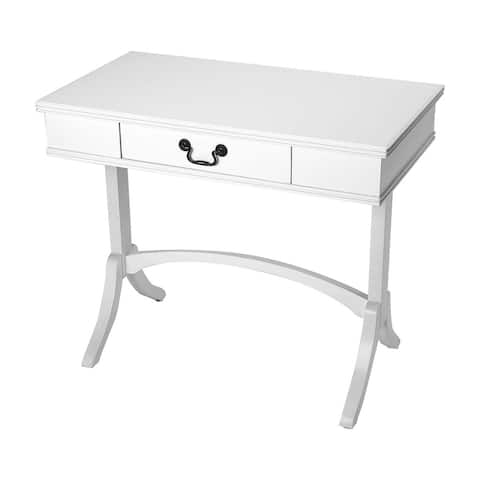 Butler Alta Transitional Rectangular Wooden Writing Desk - White