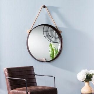 Carbon Loft Merina Industrial Black Decorative Hanging Mirror - Black/Taupe