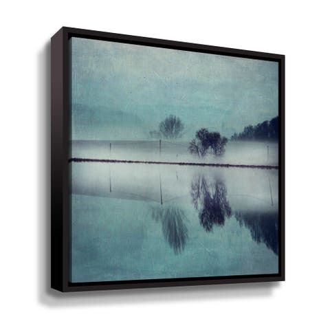 """Porch & Den """"Misty Mirror"""" Gallery Wrapped Floater-framed Canvas"""